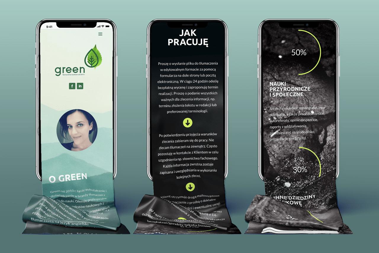 Green mobile screens