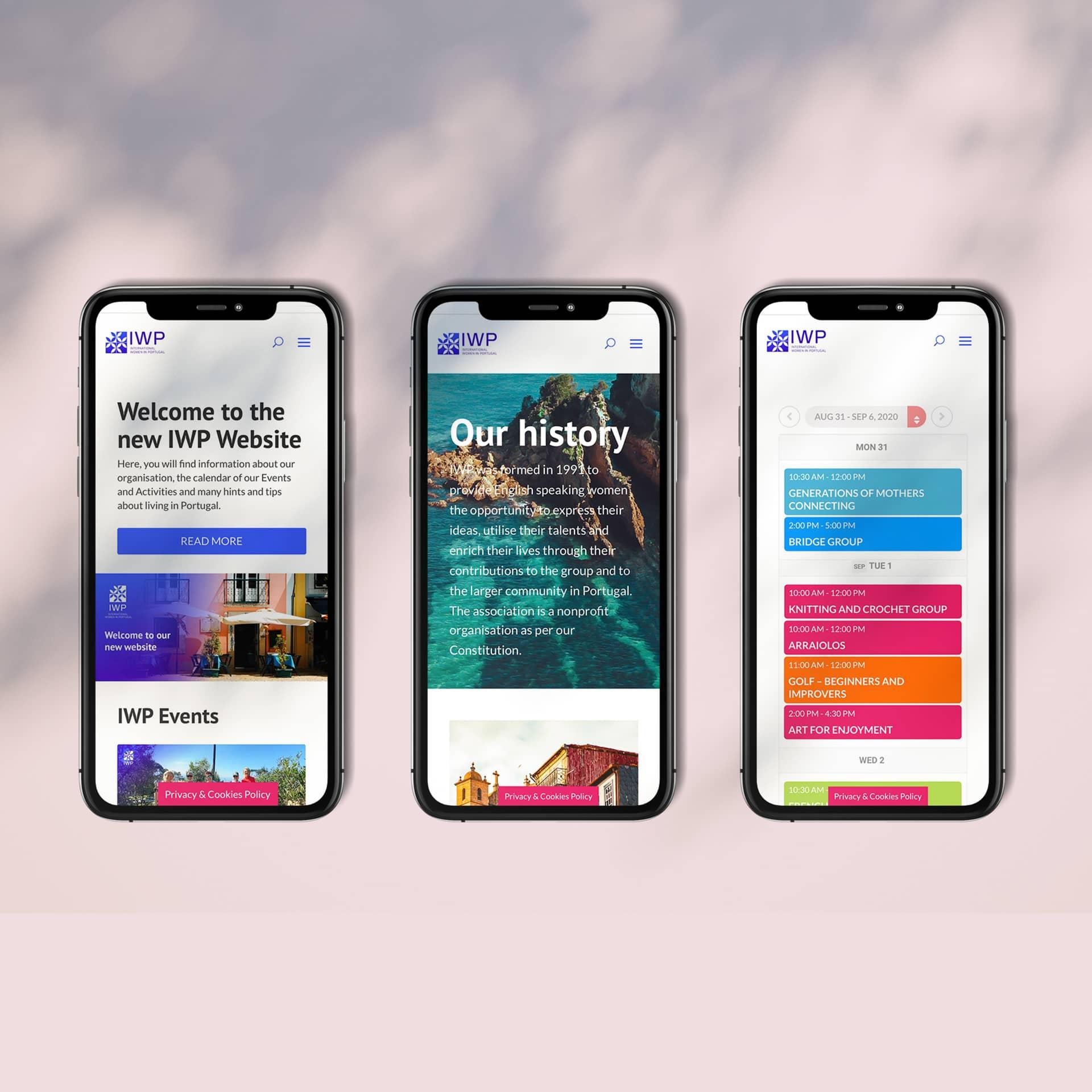 IWP mobile screens